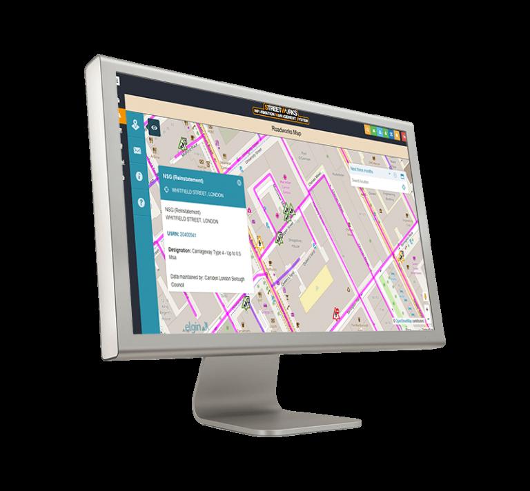 Street works planning software